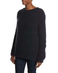 Gabriela Hearst Relaxed Crewneck Cashmere Sweater Navy