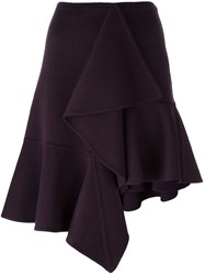 Rochas Draped Asymmetric Skirt Pink Purple