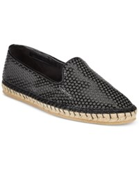 Cole Haan Rielle Perforated Espadrille Flats Women's Shoes Black