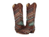 Corral Boots A3381 Turquoise Brown Cowboy Blue