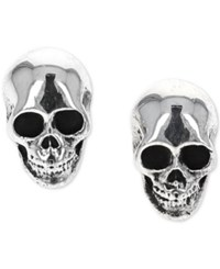 King Baby Studio Rock N' Roll Stud Earrings In Sterling Silver