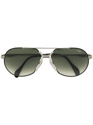 Cazal Tinted Aviator Sunglasses Acetate Metal Metallic