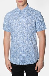 7 Diamonds Men's 'Noble Heart' Trim Fit Print Woven Shirt