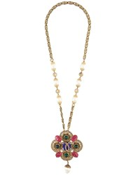Chanel Vintage Gripoix Pearl Filigree Necklace Multicolour