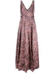 Badgley Mischka Floral Evening Dress 60