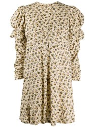 Zadig And Voltaire Floral Print Puff Sleeves Dress 60