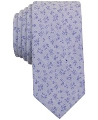 Bar Iii Men's Indigo End On End Floral Tie Only At Macy's Blue