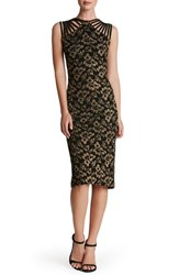 Dress The Population Women's Strappy Knit Midi