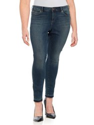 Vince Camuto Plus Frayed Cuff Jeans Mid Vintage