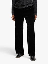 Eileen Fisher Velvet Straight Leg Trousers Black