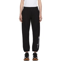 Champion Reverse Weave Black Big Script Elastic Cuff Lounge Pants