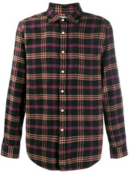 Portuguese Flannel Checked Shirt Black