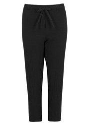 Raquel Allegra Black Gauze Trousers