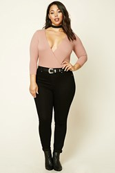 Forever 21 Plus Size High Rise Jeans Black
