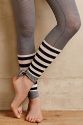 Anthropologie Mix Stripe Tights Black