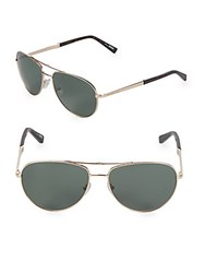 Ermenegildo Zegna 61Mm Round Aviator Sunglasses Gold