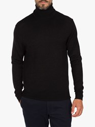 Eden Park Merino Wool Roll Neck Jumper Black