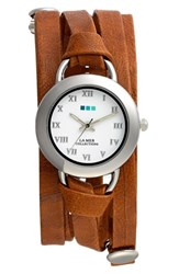 La Mer 'S Collections 'Saturn' Leather Wrap Bracelet Watch 32Mm X 30Mm