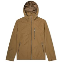 Edifice Memory Twill Stand Hooded Jacket Brown