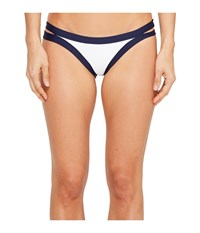 L Space Color Block Charlie Bottom Midnight White Women's Swimwear Gray