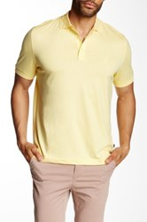 Nautica Cutaway Collar Short Sleeve Polo Yellow