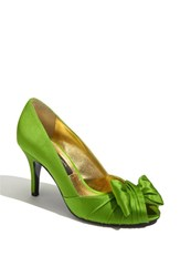 Women's Nina 'Forbes' Peep Toe Pump Apple Green