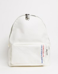 Calvin Klein Canvas Utility Backpack In White