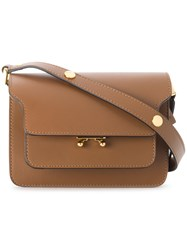 Marni Mini Trunk Shoulder Bag Brown