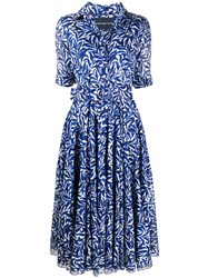 Samantha Sung Aster Belted Midi Dress Blue
