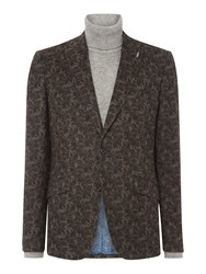 Simon Carter Men's Floral Print Jacket Grey