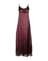 Jucca Long Dresses Maroon