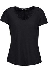 J Brand Mirabelle Slub Cotton T Shirt Black