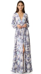 Mara Hoffman Compass Maxi Dress Lavender Grey