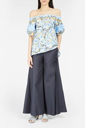 Peter Pilotto Women S Ultra Flared Trousers Boutique1 Blue