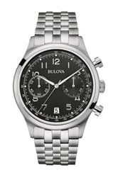 Bulova Men's Classic Chronograph Bracelet Watch Black