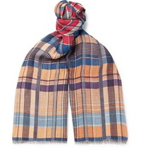 Missoni Fringed Checked Woven Scarf Multi