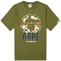 Aape By A Bathing Ape Front Target Tee Green