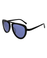 Kendall Kylie Jones Flat Top Sunglasses Black Metallic