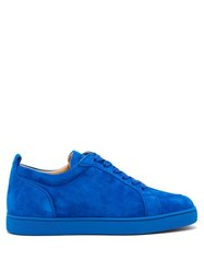 Christian Louboutin Rantulow Suede Low Top Trainers Blue