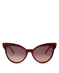 Wildfox Couture Grand Dame Cat Eye Sunglasses 58Mm Cider Gray Gradient