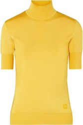 Givenchy Knitted Turtleneck Top Yellow