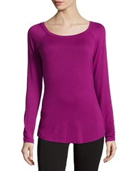 Babakul Open Back Long Sleeve Raglan Tee Magenta
