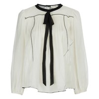 Marc Jacobs Women's Peasant Blouse With Tie White