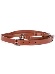 A.F.Vandevorst Multi Buckle Belt Leather Brown