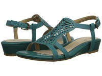 Softspots Susanna Turquoise M Vege Women's Wedge Shoes Blue