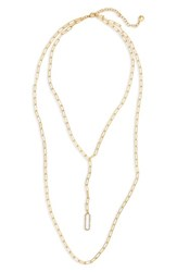 Baublebar Layered Link Necklace Gold