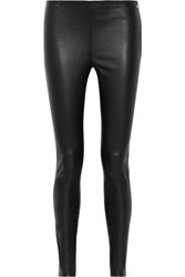 Karl Lagerfeld Ikonik Stretch Leather Leggings Black
