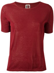 I'm Isola Marras Knitted T Shirt Red