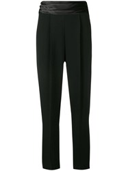 Emporio Armani Pleated Waistband Trousers Black