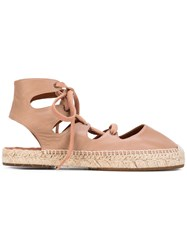 Chie Mihara Peti Flat Sandals Women Leather Rubber 40 Nude Neutrals